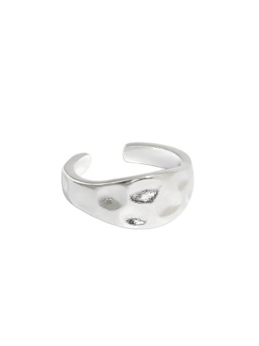 Silver [7 adjustable] 925 Sterling Silver Irregular Vintage Band Ring